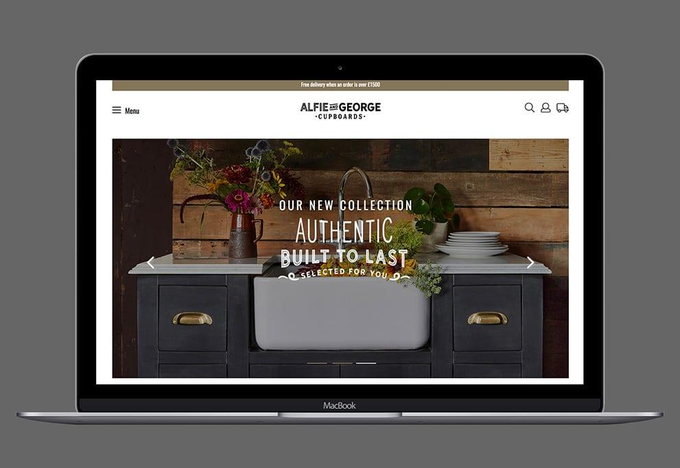Alfie & George web design hero