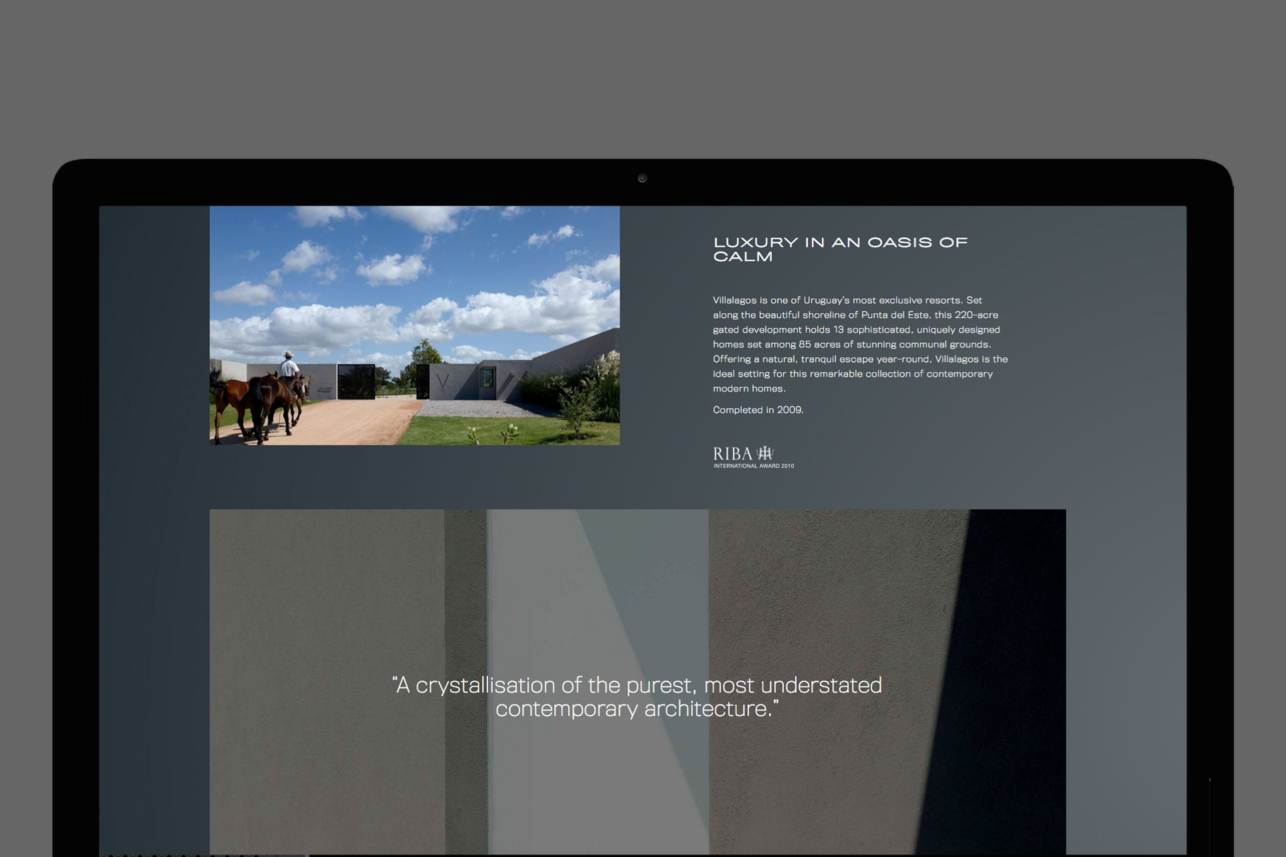 Creatone Property | website design project detail