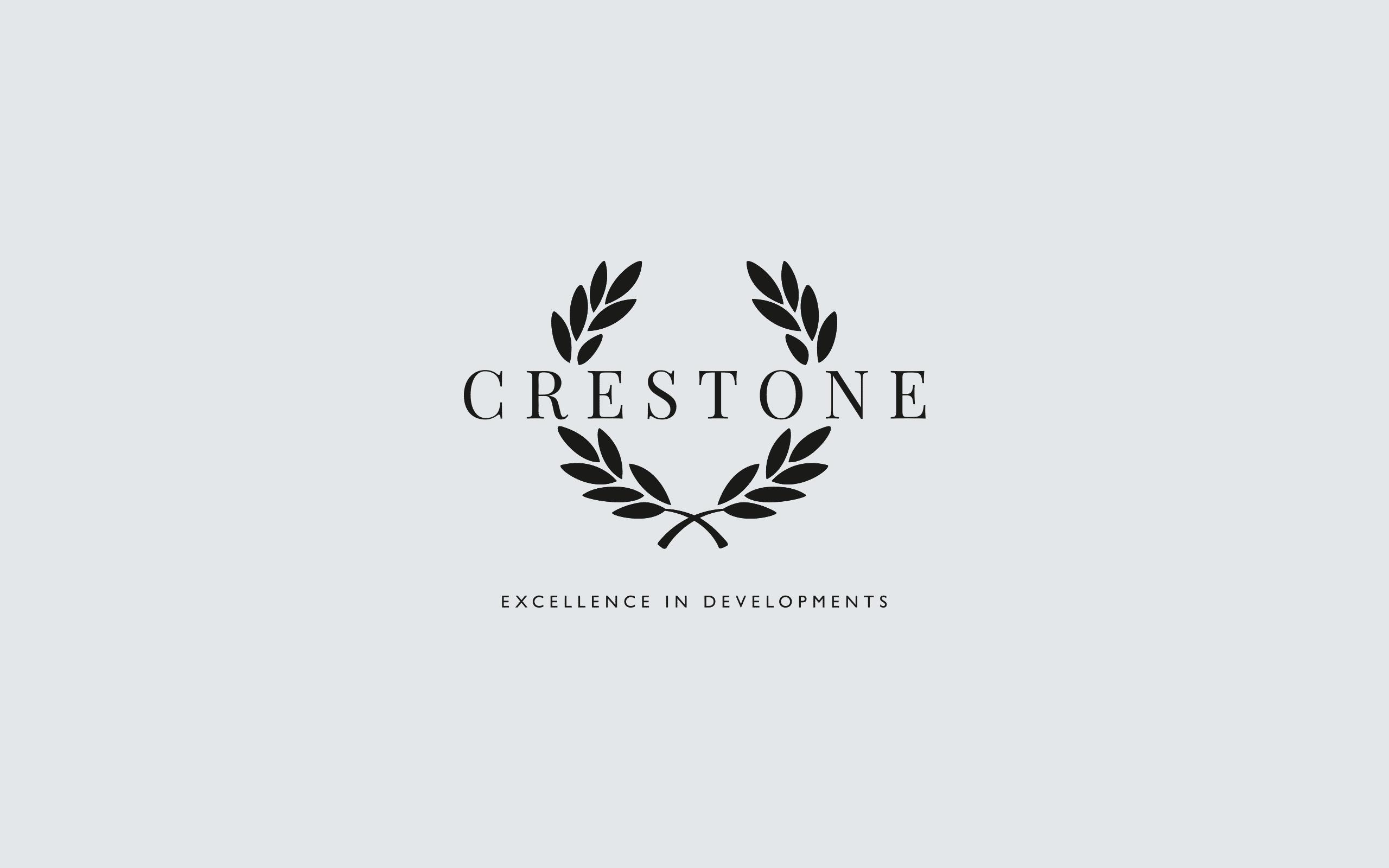 Crestone Developments logotype and new tagline | Zeke Creative