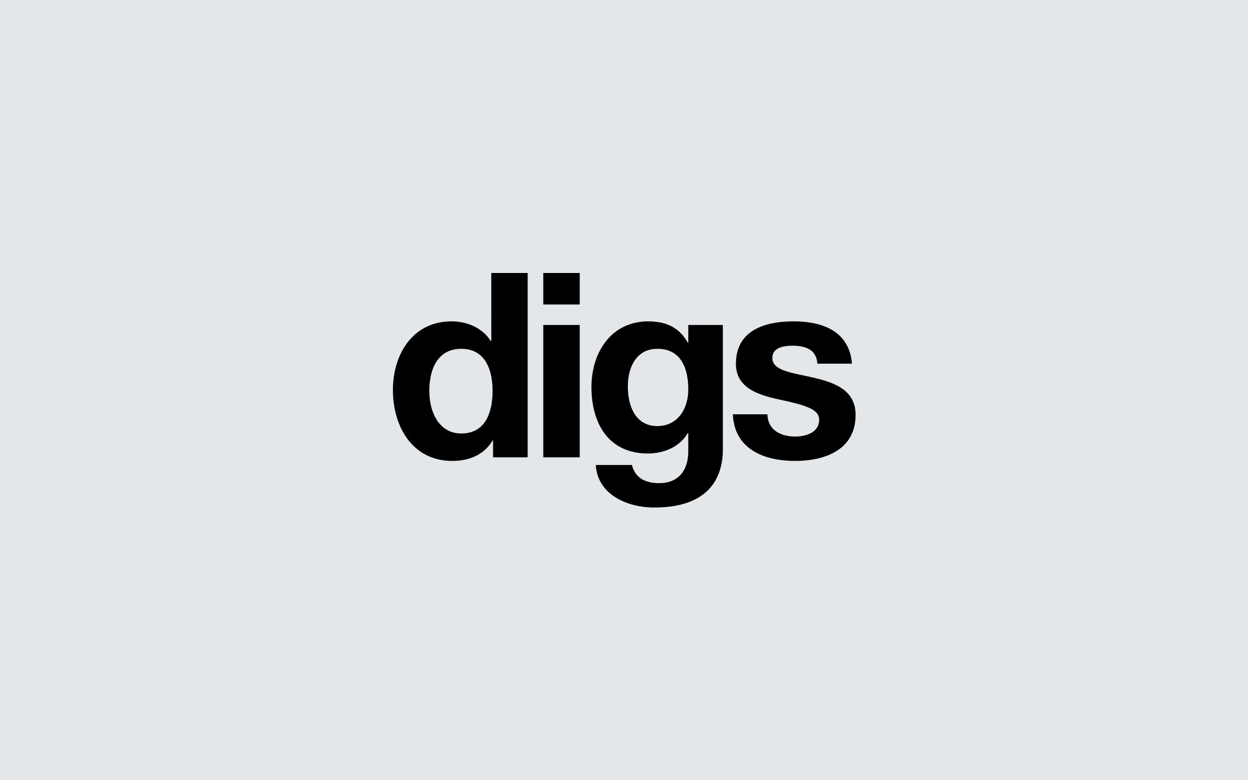 Digs Property Lettings logotype | Zeke Creative