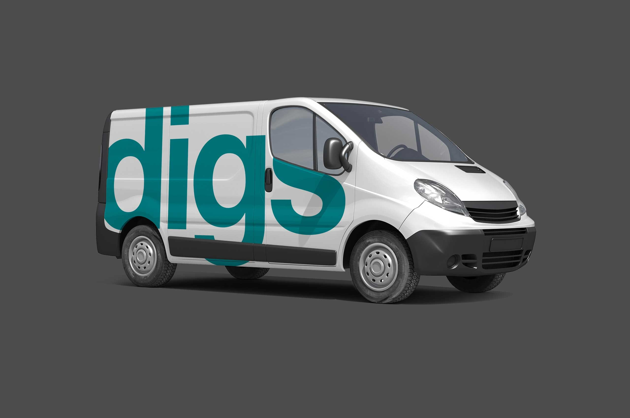 Digs vehicle graphic