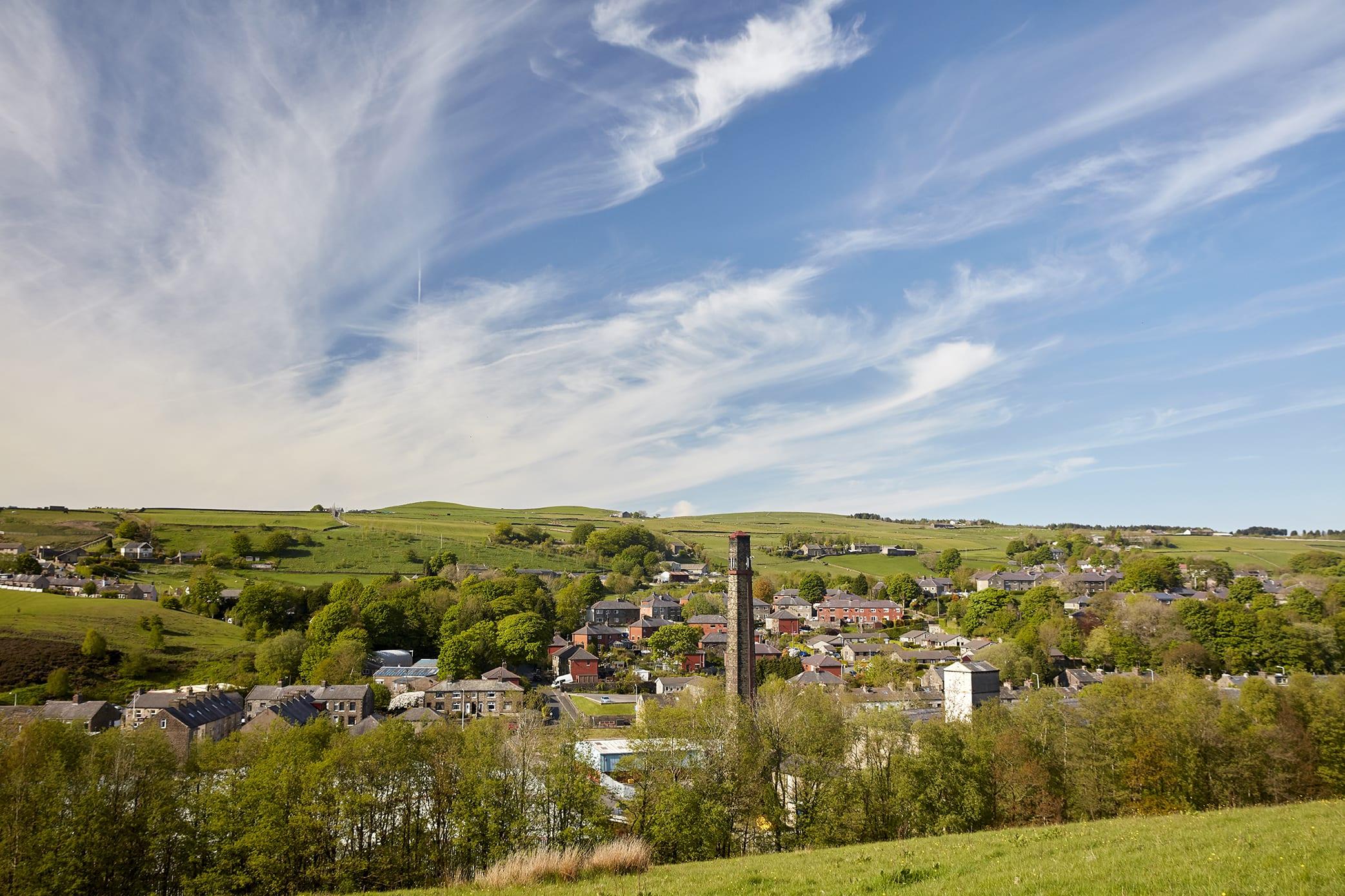 JJO plc Bacup view across valley, Lancashire