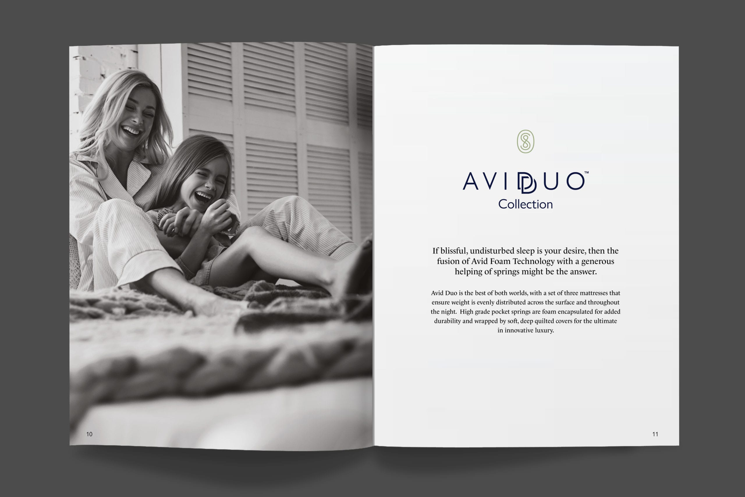 Sonlevo sales brochure Avid Duo collection spread