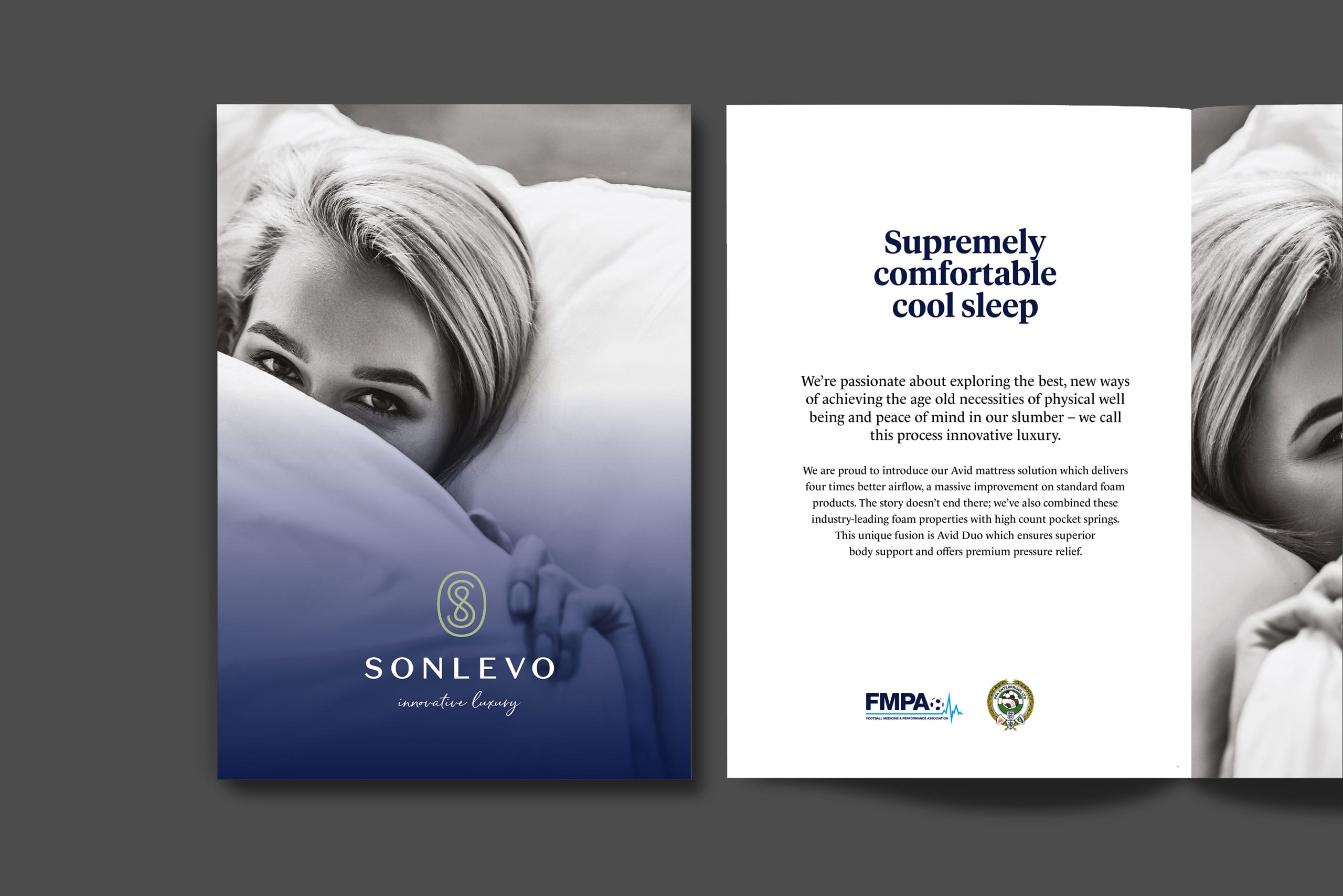 Sonlevo brochure cover and spread