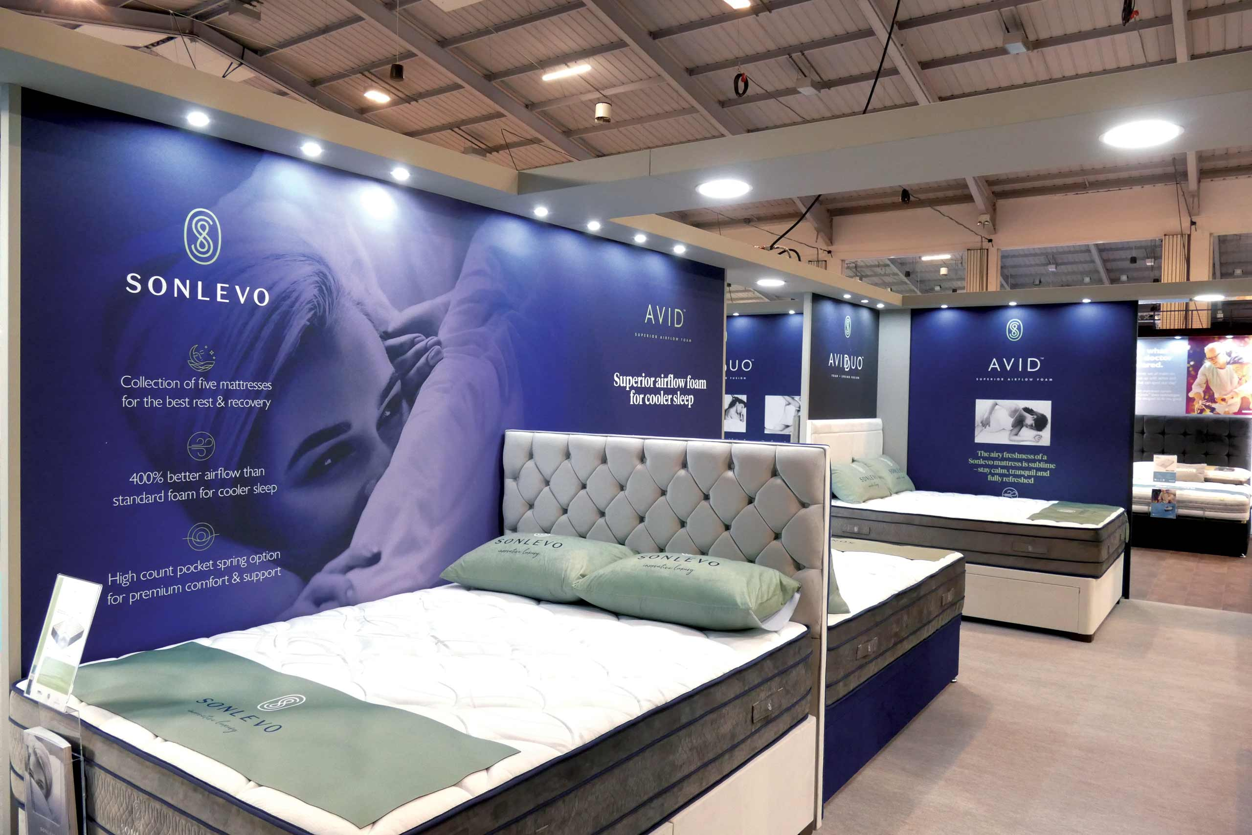 Trade Exhibition Show stand with Sonlevo by Zeke Creative