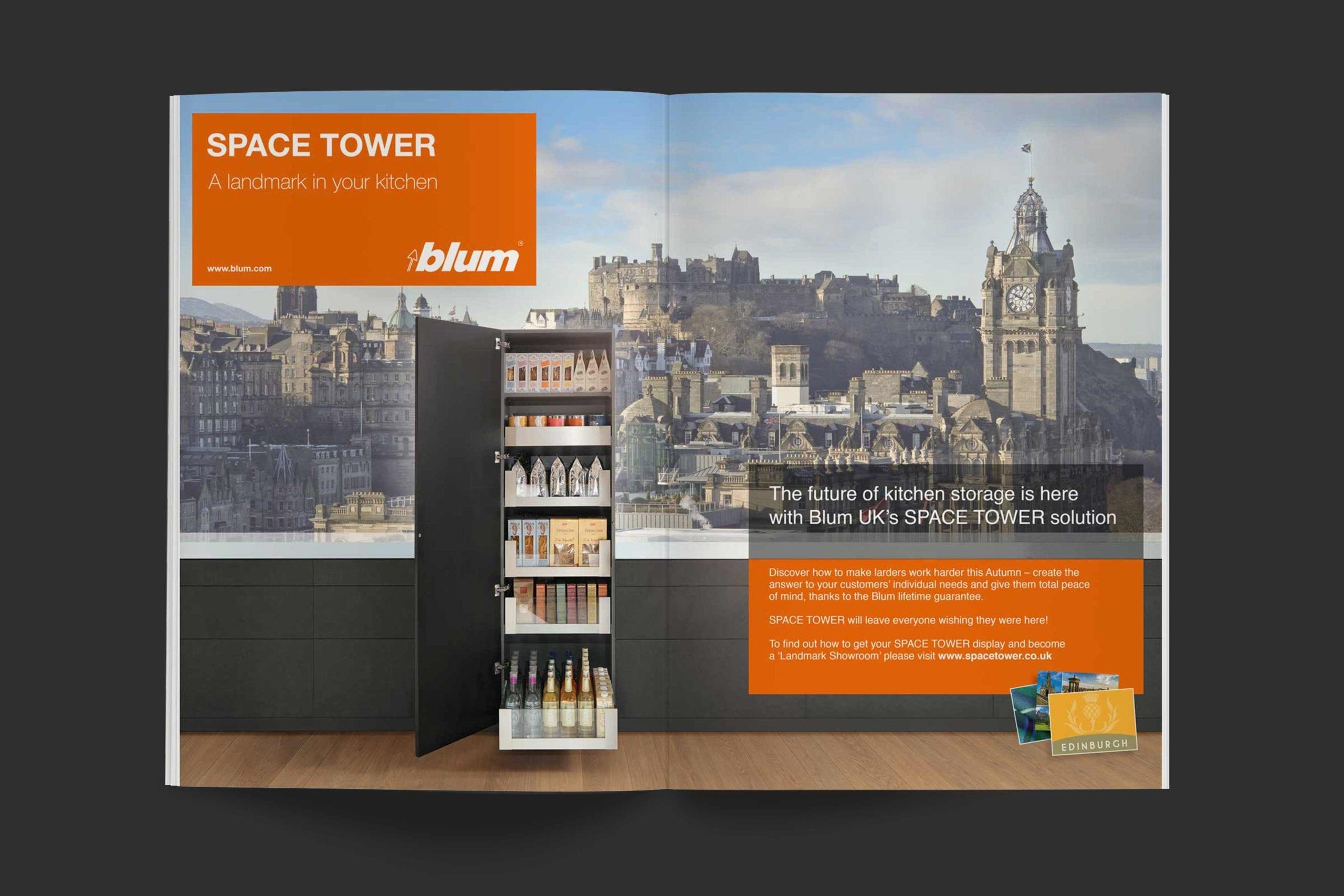 Blum | Space Tower campaign advert spread 3 | Zeke Creative