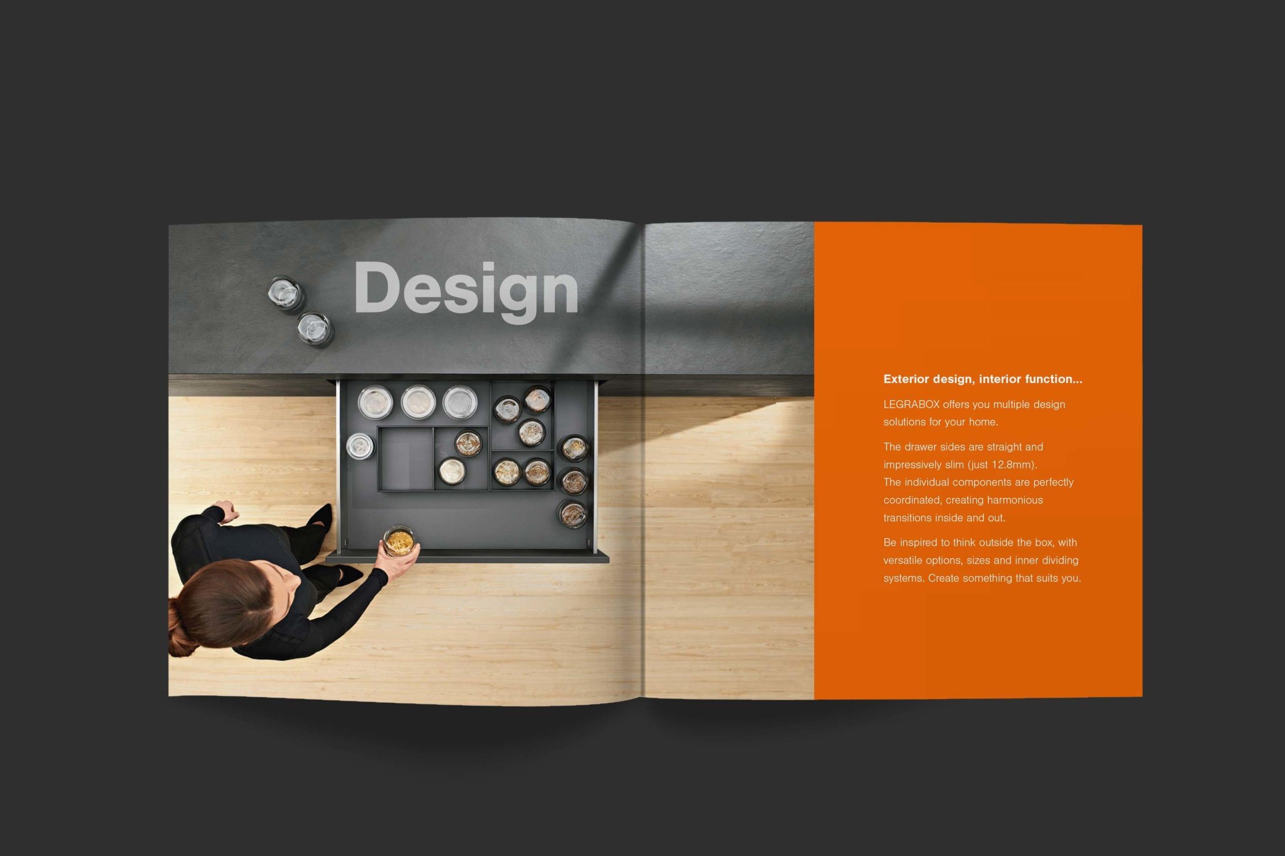 Blum | Legrabox cover and spread | Zeke Creative