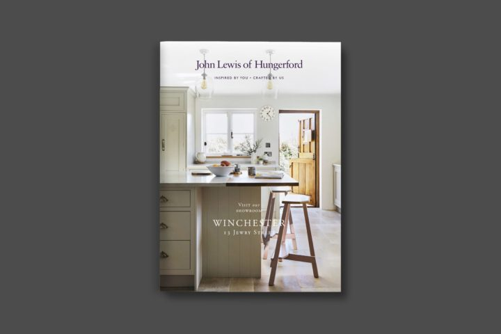 John Lewis of Hungeford Winchester leaflet cover | Zeke Creative
