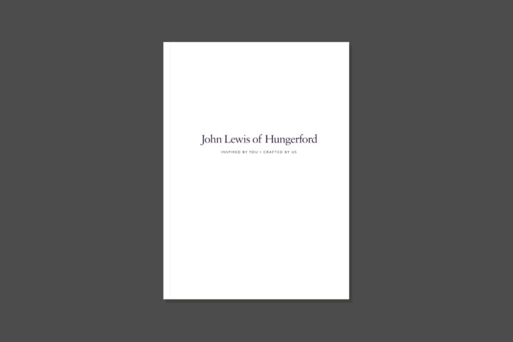 John Lewis of Hungerford | Brochure cover