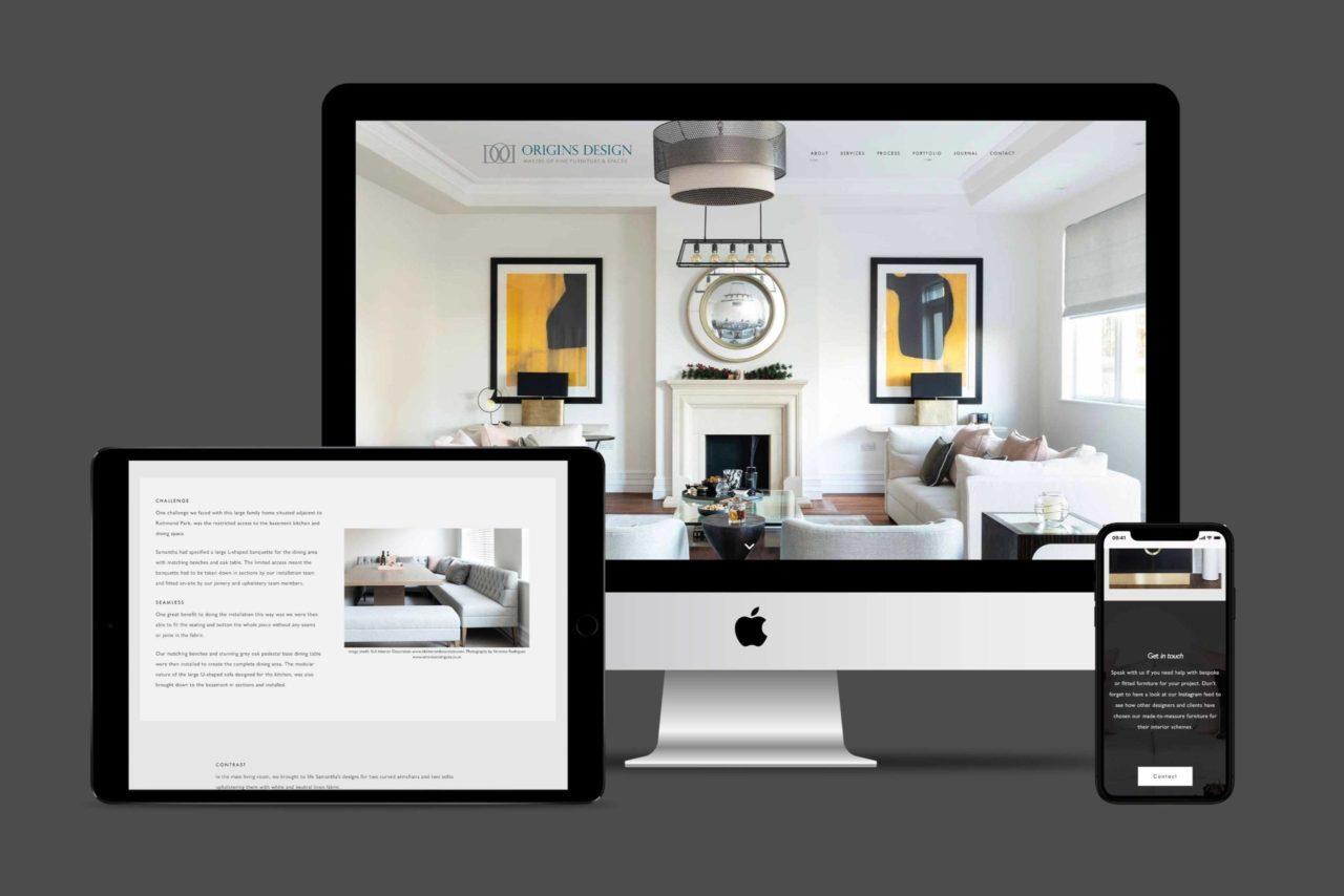 Origins Design full responsive hero image for website design