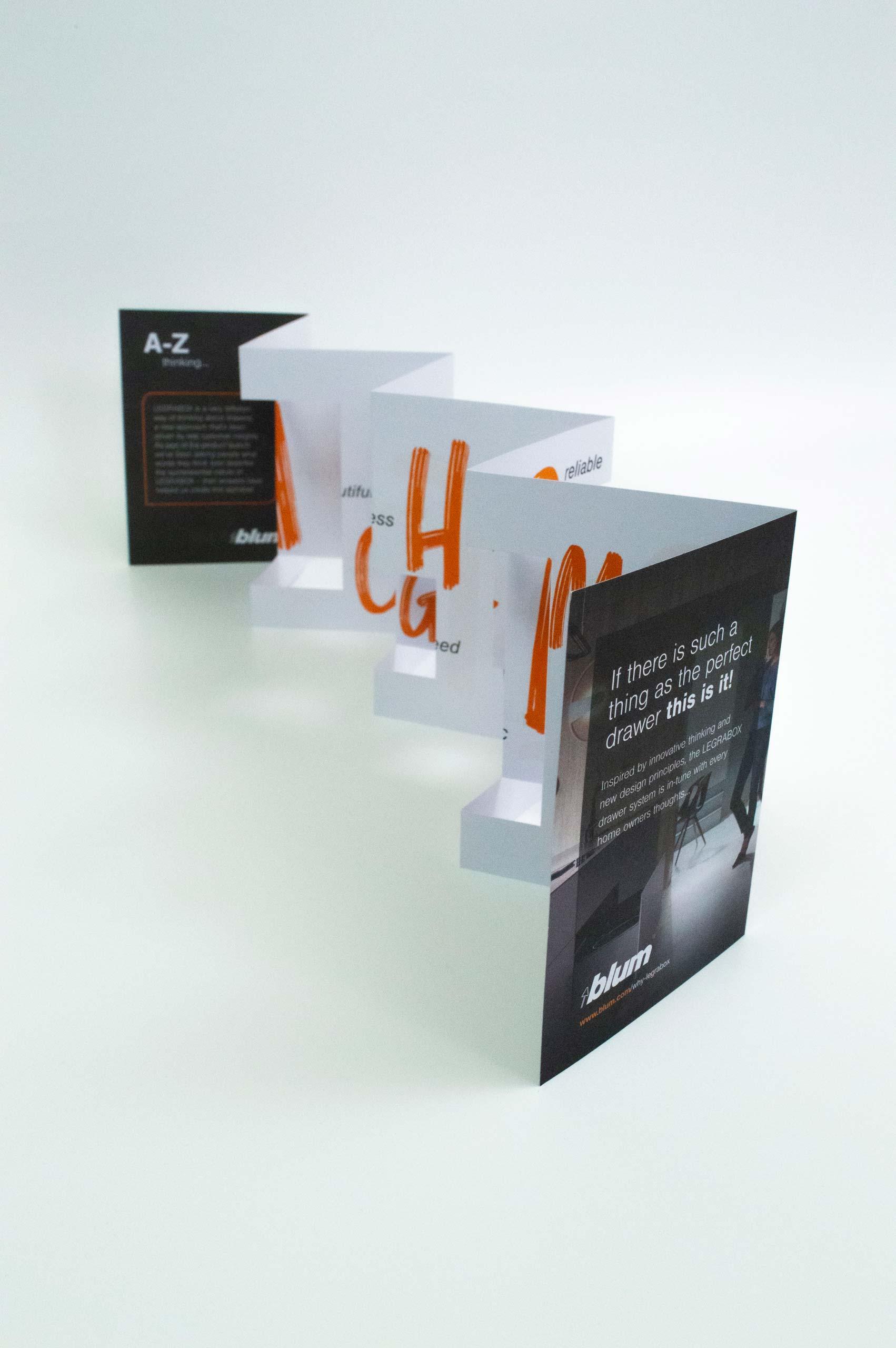 Blum | Legrabox A-Z concertina unfolded piece | Zeke Creative