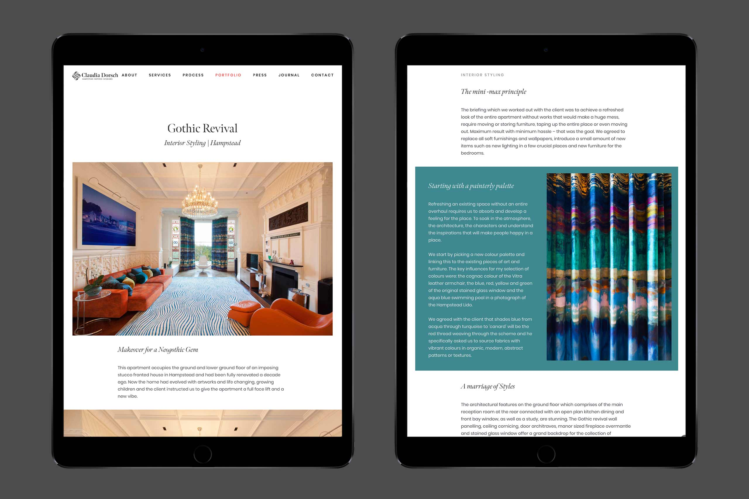 Claudia Dorsch   Gothic Revival case study on a pair of iPads